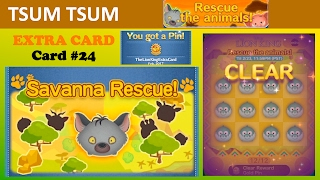 Tsum Tsum Lion King Event (Savanna Rescue) Extra Card (Card 24, Challenges 1-12)