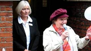 getlinkyoutube.com-Patricia Routledge opens Chichester Charity Card Shop