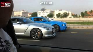 getlinkyoutube.com-2009 Nissan HKS570 GTR R35 Vs 2011 Moded Shelby GT500