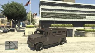 getlinkyoutube.com-*NEW* LSPD Swat Riot Truck GTA 5 - Gameplay