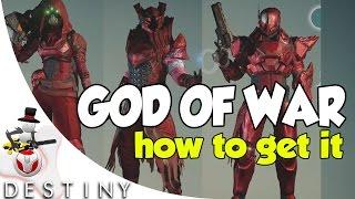 getlinkyoutube.com-Destiny - How to Unlock GOD OF WAR SHADER ( God Of War Shader Showcase )