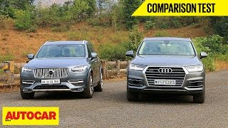 getlinkyoutube.com-Audi Q7 VS Volvo XC90 | Comparison Test | Autocar India