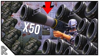 """OPEN DOORS x50 ROCKETS, x25 C4 RAID FOR FREE! - Ark Survival Evolved """"The Volcano"""" PVP #25"""