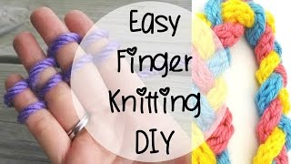 getlinkyoutube.com-How to Finger Knit, Episode 80
