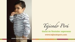 getlinkyoutube.com-Chompa o sweater tejdo en dos agujas para niños (Parte 1)