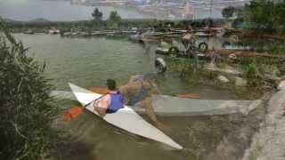 getlinkyoutube.com-Homemade Oru Kayak replica