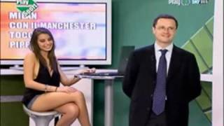 INCREDIBLE Legs Mini Skirt [Italian TV]