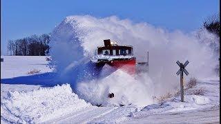 getlinkyoutube.com-RAILREEL OSR Awesome Snow Plow Ontario 3 13 2014