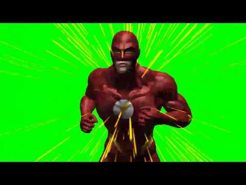 The Flash run effects - free green screen