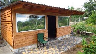 getlinkyoutube.com-Gartenhaus selbstgebaut