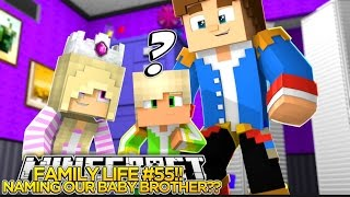 getlinkyoutube.com-FAMILY LIFE #54 - WHATS OUR BABY BROTHERS NAME?? - Little Donny Minecraft Custom Roleplay.