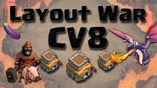 getlinkyoutube.com-Layout WAR Cv8 - Anti 3 estrelas - Clash of Clans