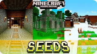 getlinkyoutube.com-Minecraft PE Seeds - Jungle Temples, Mineshaft and Villages with Houses! 0.16.0 / 0.15.0 MCPE