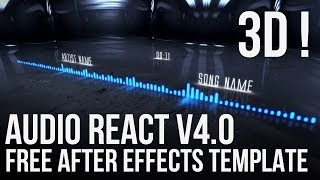 After Effects FREE 3D Template - Audio React v4.0 (Project Files/No Plugins Required)