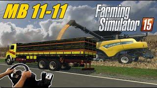 getlinkyoutube.com-FARMING SIMULATOR 2015 - MB 1111, FAZENDA PARANA OESTE, JOGANDO COM O VOLANTE G27!!!!