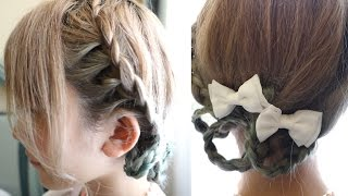getlinkyoutube.com-5分で簡単♡みつあみヘアアレンジ♡ Super Easy Super Cute 5 minutes Braid Hairstyle Tutorial