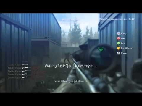 Insane COD4 Sniper kill feed! + Crazy reactions!