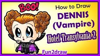 getlinkyoutube.com-Hotel Transylvania 2 - How to Draw Cute Dennis Vampire Boy + Fun Facts Halloween Fun2draw