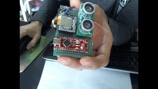 getlinkyoutube.com-Lecteur mp3 (WTD020SD DFPlayer), Alarm et detecteur de distance (capteur HC-SR04) avec Arduino