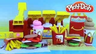 getlinkyoutube.com-Pâte à modeler Play Doh Mcdonald's Happy Meal Playshop Playset Frites Hamburgers