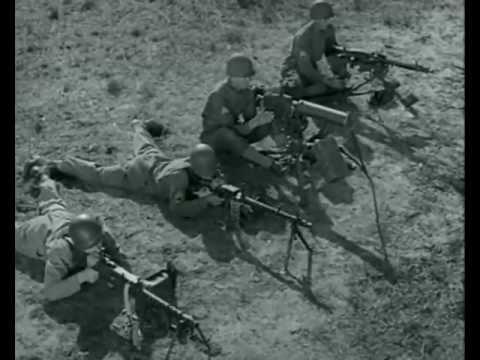 Machine Gun Comparison -- U.S. .30 caliber vs. German MG-34 and MG-42