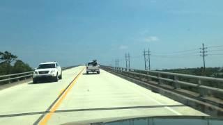 North Topsail Beach, NC Driving Over Tall Bridge 6/6/15