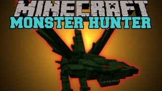 getlinkyoutube.com-Minecraft : MONSTER HUNTER (BOSSES, MOBS, HUGE WEAPONS, 2 BIOMES) Mod Showcase