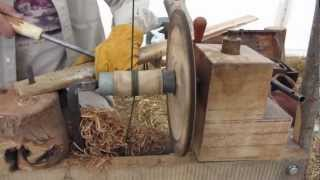 getlinkyoutube.com-Pole Lathe Turning and Green Woodworking at RHS Wakehurst Place