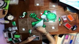 getlinkyoutube.com-Yoshi hecho con hama beads en time lapse