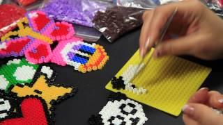 getlinkyoutube.com-- Video Tutorial - Panda - Hama Beads Pyssla Perline Midi a termofusione