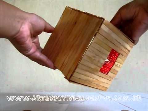 Como fazer uma casa com palitos de picolé