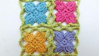 getlinkyoutube.com-How to Crochet * Mille fiori per cinque mille agnelli * Crochet Flower Triangle Scarf