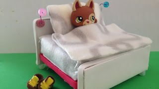 getlinkyoutube.com-How to make a LPS Bed: LPS accessories