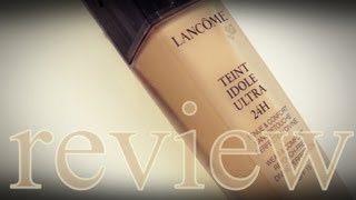 getlinkyoutube.com-REVIEW: Lancome Teint Idole Ultra 24H Foundation