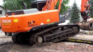 getlinkyoutube.com-HITACHI ZAXIS 350 BAGGER VERLADUNG AUF SCHWERTRANSPORT RIEDEL