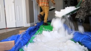 SNOWBOARDING IN MY HOUSE!!