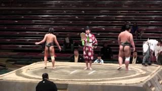 getlinkyoutube.com-【テレビでは見られない大相撲・初っ口】 大相撲の朝一の取組 序の口最初の取組 Sumo Tournament the lowest division
