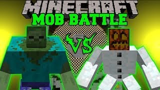getlinkyoutube.com-MUTANT SNOW GOLEM VS MUTANT ZOMBIE - Minecraft Mob Battles - Mutant Creatures Mods