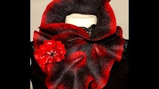 getlinkyoutube.com-How to felt frilly scarf and flower
