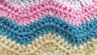 getlinkyoutube.com-How to Crochet an Afghan: Lazy Wave Afghan