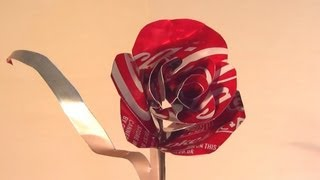 How to Make Coke Can Rose - Valentines Day Gift
