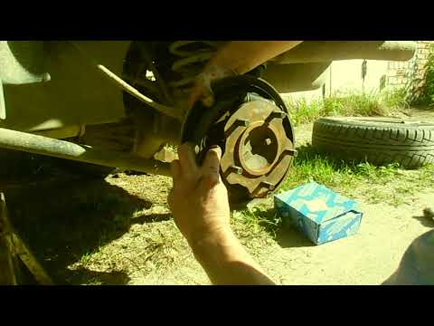 Замена задних тормозных колодок Сузуки гранд витара (установка)