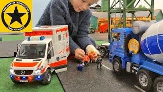 getlinkyoutube.com-BRUDER CEMENT MIXER bad luck POLICE Bruder Trucks BRUDER TOY KID VIDEOS