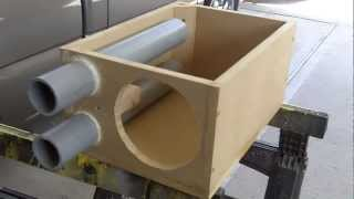 getlinkyoutube.com-PEARLAND CUSTOMZ : Custom Crossfire Srt6 8 inch Subwoofer Box Build!! Pt.1