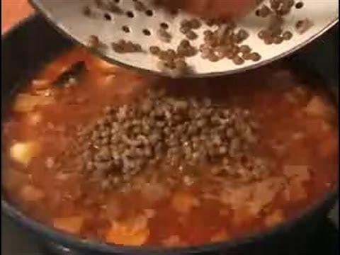 Cómo cocinar un guiso de lentejas