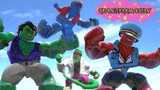 getlinkyoutube.com-HULK,RED HULK,A-BOMB,CURT CONNORS TRANSFORMATION - LEGO MARVEL SUPER HEROES GAME