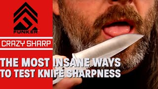 The Most Insane Ways To Test Knife Sharpness! Mike Vellekamp