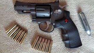 getlinkyoutube.com-Crosman SNR357 CO2 Dual Ammo Full Metal Revolver