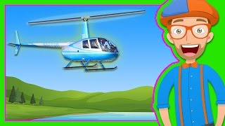 getlinkyoutube.com-Helicopters for Children | Blippi Explore a Helicopter