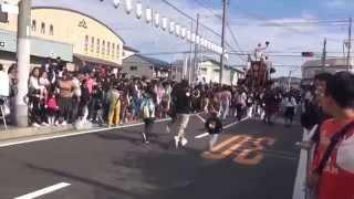 getlinkyoutube.com-2015年 信太・幸地区だんじり① パレード(9台)